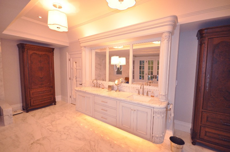 bathroom, vanity, painted vanity